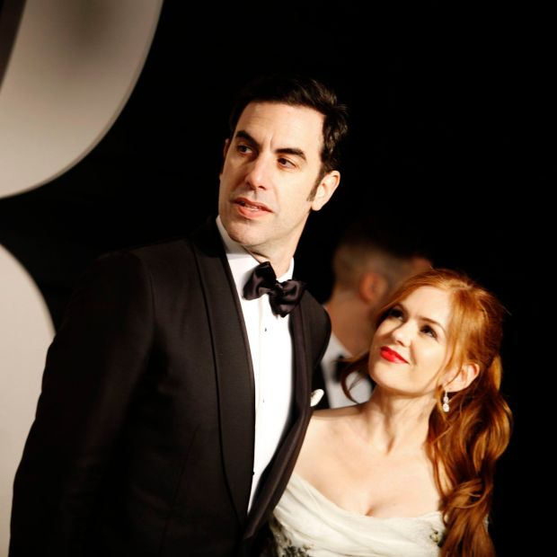 Sacha Baron Cohen and Isla Fisher at the Vanity Fair an Oscars party in 2016. Photograph: Emily Berl/NYT