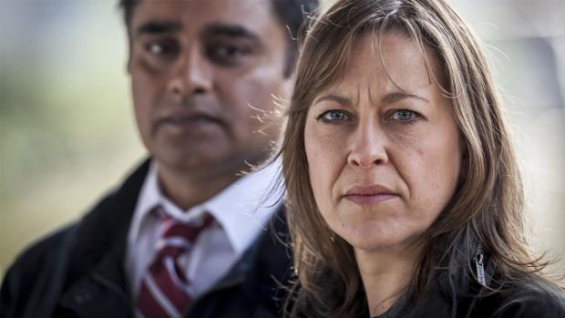 Sanjeev Bhaskar and Nicola Walker in Unforgotten