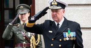 Defence Forces Vice-Admiral Mark Mellett: his relationship with  the recently retired secretary general Maurice Quinn was described as particularly toxic. Photograph: Tom Honan