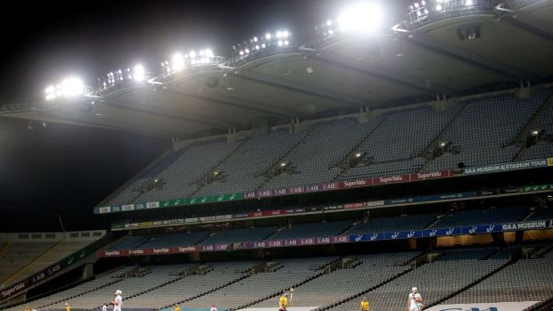 An empty Croke Park during the 2020 All-Ireland championships. File photograph: Inpho