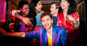 It's a Sin: Olly Alexander (front) with Omari Douglas, Nathaniel Curtis, Callum Scott Howells and Lydia West. Photograph: Channel 4