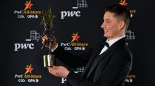 Limerick's Gearóid Hegarty with his PwC GAA/GPA Hurler of the Year award. Photograph: Sportsfile