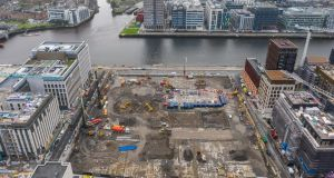 Waterfront South Central site, Dublin. Photograph: Naoise Culhane