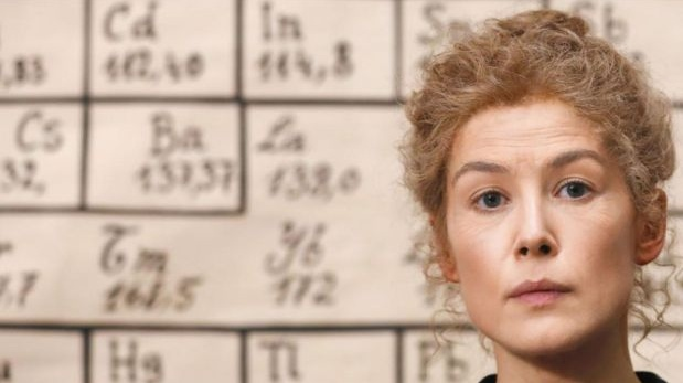 Rosamund Pike as Marie Curie in Marjane Satrapi's new film Radioactive. Photograph: Studiocanal
