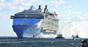 Royal Caribbean Group said  it was seeing a rise in future bookings following a disastrous year. Photograph: Patrick Farrell/AP Photo/Miami Herald