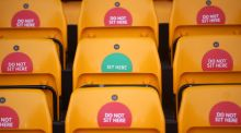 Empty seats at Wolves' home ground Molineux: Up to 10,000 fans could be back inside grounds for the conclusion of the Premier League season. Photograph: Carl Recine/Getty Images