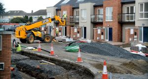 The IHBA said the current hiatus in construction  had already taken 8,000 homes out of supply this year. Photograph: Cyril Byrne