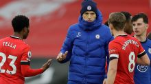 Chelsea's  head coach Thomas Tuchel: was frustrated by the team's toothless display at Southampton. Photograph: Kirsty Wigglesworth/AFP/Getty  Images)