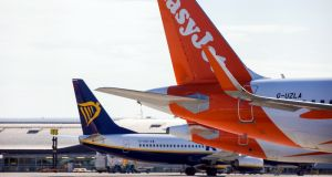 Shares of carriers like EasyJet and Ryanair  that have a large UK presence advanced on Monday.