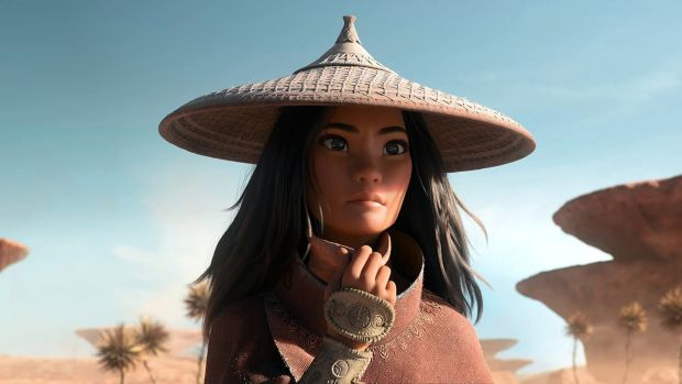 The title character Raya. Photograph: Disney 2020