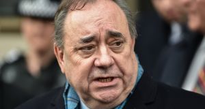 Former Scottish first minister Alex Salmond claims that figures close to first minister Nicola Sturgeon tried to damage his reputation and remove him from public life and that the first minister misled parliament about what she knew about it. Photograph: Jeff J Mitchell/Getty Images