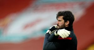 Liverpool goalkeeepr Alisson Becker. Photo: Phil Noble/Getty Images