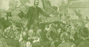 Charles Stewart Parnell addressing an anti-rent meeting in Limerick in 1879. Photograph: Culture Club/Getty Images