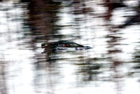 ARCTIC RALLY: Teemu Suninen of Finland drives his Ford Fiesta WRC during day one of the Arctic Rally Rovaniemi in Finland as part of the FIA World Rally Championship. Photograph: EPA/STR
