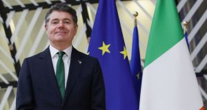 Minister for Finance Paschal Donohoe: has long argued that an OECD deal is in Ireland's interests. Photograph: Yves Herman/Pool/AFP via Getty Images