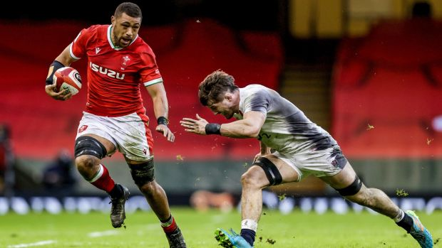 Taulupe Faletau was named man of the match against England. Photograph: Laszlo Geczo/Inpho