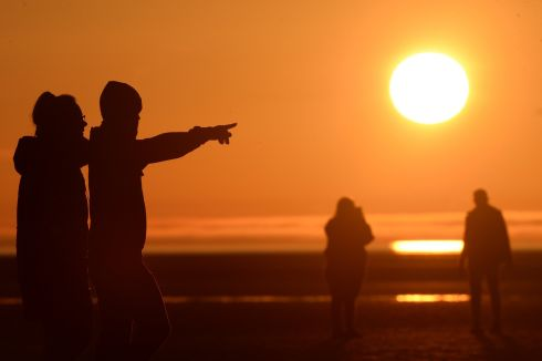 Sunrise at Sandymount Strand, Dublin. Photograph: Dara Mac Dónaill/The Irish Times
