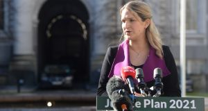 Minister for Justice Helen McEntee.  Her department  says the new law would include measures to monitor sex offenders on their release. Photograph: Dara Mac Dónaill