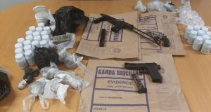 Weapons and drugs seized during the operation. Photograph: An Garda Síochána