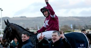 Rob Jamesrode the Gordon Elliott trained, and Michael O'Leary owned, Milan Native to win the Kim Muir Challenge Cup at last year's Cheltenham festival. Photograph: Dan Sheridan/Inpho