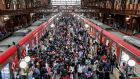 Passengers  disembark  a train at Luz station in São Paulo, Brazil,  on  February 26th,  2021. File photograph: EPA/Sebastiao Moreira