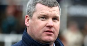 Horse trainer Gordon Elliott: apologised over photograph of him with dead horse. Photograph: Simon Cooper/PA