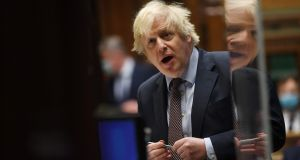 British prime minister Boris Johnson at the House of Commons, in central London on March 3rd, 2021. Photograph: Jessica Taylor/ AFP via Getty Images