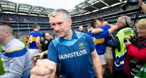 Liam Sheedy as Tipperary's manager in Croke Park for the All-Ireland Senior Hurling Final in 2019. Photograph: Tom Honan