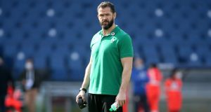 Ireland head coach Andy Farrell has been part of the negotiation process with the seven players whose IRFU central contracts expired this summer. File photograph: PA