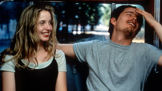 Julie Delpy and Ethan Hawke in Before Sunrise. Photograph: Castle Rock Entertainment/Getty Images