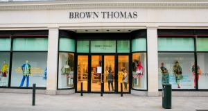 A view of the Brown Thomas department store on Grafton Street in Dublin. Photograph: Nick Bradshaw for The Irish Times. Photograph: Gareth Chaney/Collins