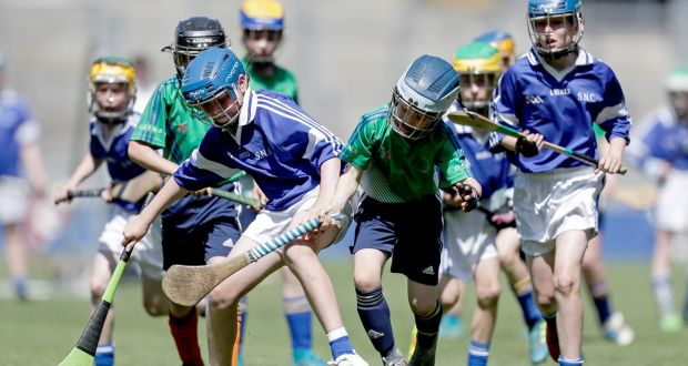 File photo of action between Kilmanagh and Glasnevin ET at the Cumann na mBunscol Finals in 2018. Photo: Laszlo Geczo/Inpho