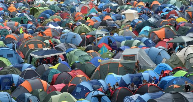 Campers at Electric Picnic,  Stradbally Co Laois.Photograph: Brenda Fitzsimons