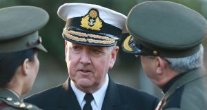 Chief-of-Staff Vice-Admiral Mark Mellett:  he advised Simon  Coveney that the three former officers should be rehired. Photograph: Nick Bradshaw