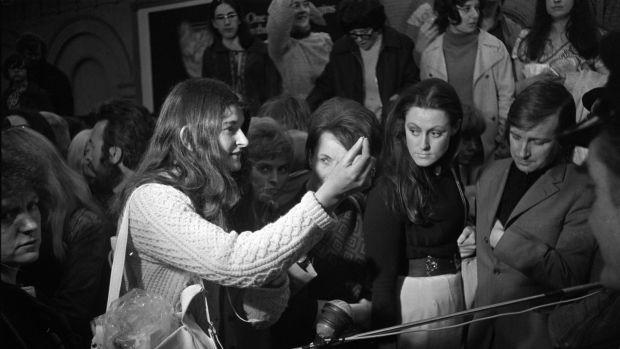 Members of the Women's Liberation Movement on their return from Belfast on May 22nd, 1971. Photograph: The Irish Times