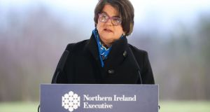 First Minister Arlene Foster was accused of sitting down with the Loyalist Communities Council and 'seeking common cause in your opposition against the protocol'. Photograph: PA