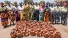 Clay stoves, manufactured mainly by women, are now deployed in half of all rural homes in Malawi. File photograph: Concern