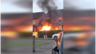 Car explodes in driveway at Cork birthday party