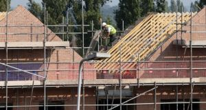 The number of new homes completed in the capital between October and December rose to 2,472. Photograph: Peter Byrne/PA Wire