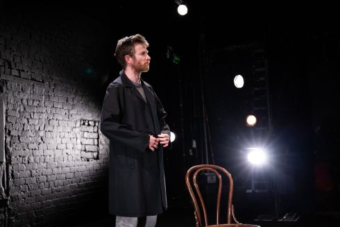 SOLO SHOW: John McCarthy performing a scene from City, a new solo work he has written and will perform, in association with the Everyman Theatre in Cork. The show will be available as an on-demand videostream from Friday April  16th to Sunday 25th. Photograph: Darragh Kane