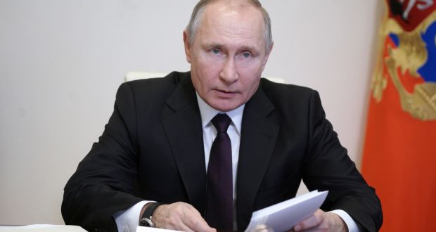 Vladimir Putin 'likely directed efforts' to try to swing the 2020 U.S. presidential election to Donald Trump. Photograph: EPA/ALEXEI DRUZHININ / SPUTNIK / KREMLIN POOL