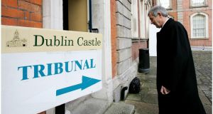 Michael Lowry arriving at Dublin Castle where  the Moriarty tribunal sat.Photograph: Bryan O'Brien