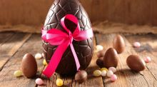An Easter egg: a long time ago people had no choice  but to set aside their eggs before Easter,  and then eat them on the big day