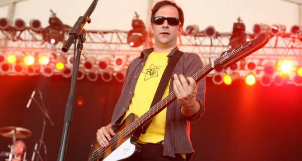 Adam Schlesinger of Fountains of Wayne onstage in  2007. Photograph: Jason Merritt/FilmMagic for Superfly Presents