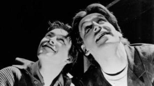 David Gorry und Sean Rocks in Frank Pig sagen 1992 Hallo: Bücher und Filme sind inkompatible Dinge - die von beiden produzierten Bilder passen nicht gut zusammen.