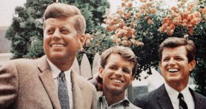 Kennedy brothers: John, Robert and Ted in Hyannis Port, Massachussets. Photograph: AP