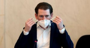 Austrian chancellor Sebastian Kurz said on Tuesday 'the only thing that should matter is whether the vaccine is effective and safe, and not where it comes from'. Photograph: Ronald Zak/AP Photo