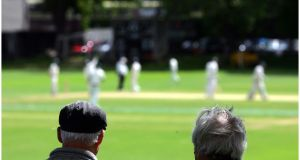 Cricket  in Trinity College Dublin. Photograph: Bryan O'Brien