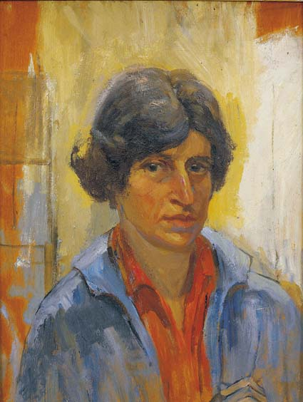 A self-portrait by Estella Solomons, a leading painter who was also a member of Cumann na mBan