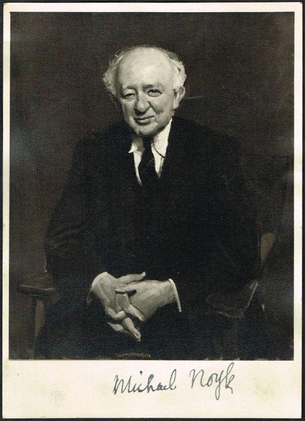 A signed portrait of Michael Noyk